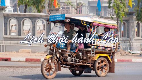 Lịch khởi hành tour Lào